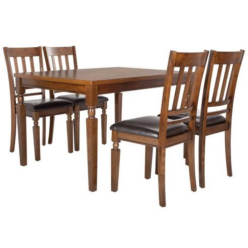 5pc Kodiak Dining Set Light Oak Safavieh Target