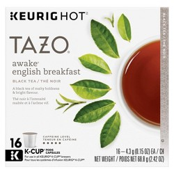 Tazo Awake English Breakfast Tea - Keurig K-Cup Pods - 16ct