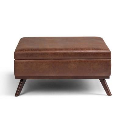 Ethan Coffee Table Storage Ottoman - WyndenHall