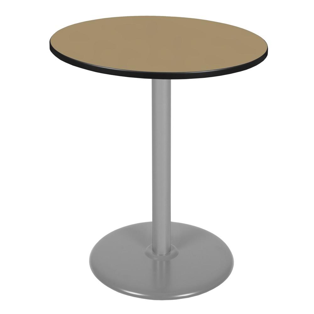 36 Via Cafe High Round Platter Base Table Gold/Gray - Regency
