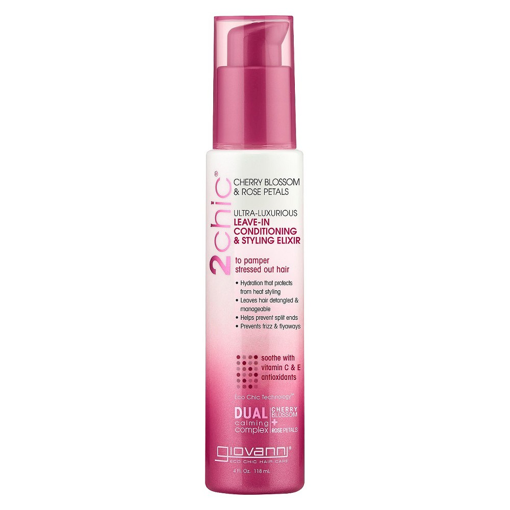 Image of Giovanni 2chic Cherry Blossom & Rose Petals Leave-in Conditioning & Styling Elixir - 4oz