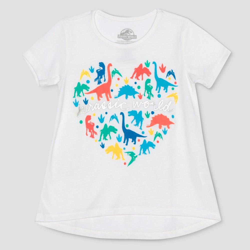 Toddler Girls' Jurassic World 2 Short Sleeve T-Shirt - White 12M thumbnail