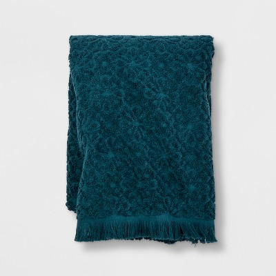 Perfectly Soft Embossed Bath Towel Teal Blue - Opalhouse™