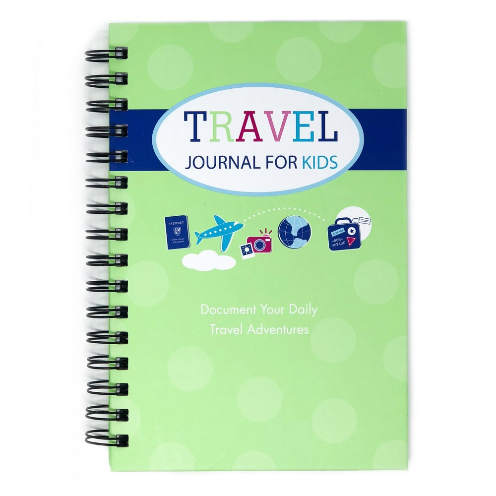 "Image of ""Travel Journal for Kids 8.5""""x5.5"""" Green- Kahootie Co"""