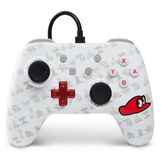 PowerA Wired Controller for Nintendo Switch - Super Mario Odyssey - White