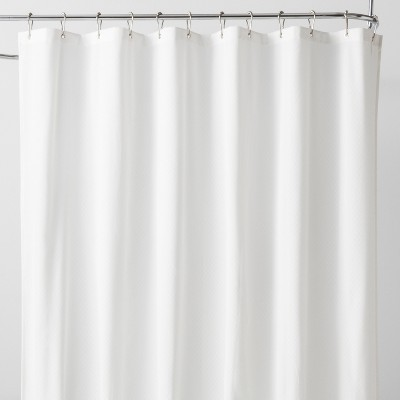 Waterproof Basket Weave Fabric Shower Liner Winter White - Made By Design™
