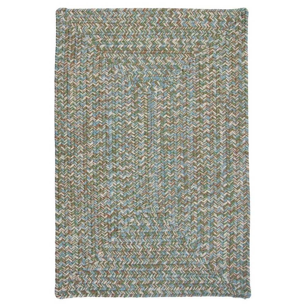 Forest Tweed Rug Green