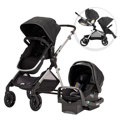 Evenflo Pivot Xpand Modular Travel System with Safemax Infant Car Seat-Stallion