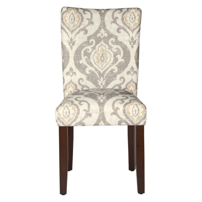 Parsons Pattern Dining Chair Wood (Set of 2) – HomePop - image 1 of 14