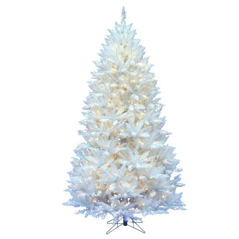 7.5ft Pre-Lit Artificial Christmas Tree Full Sparkle White Spruce - with 550 Warm White LED Lights - image 1 of 2