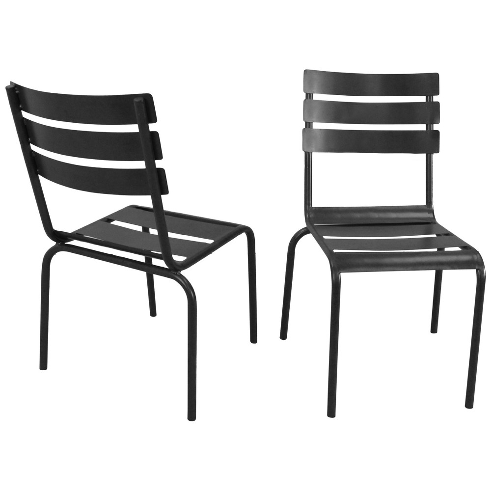 Sunniva Stacking Metal Chairs (Set of 2) - Industrial - Carolina Chair and Table