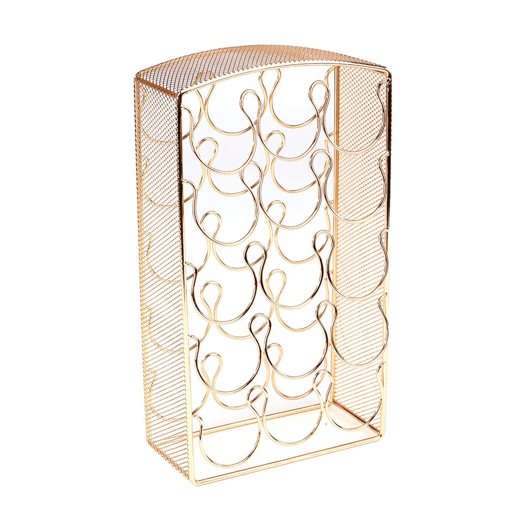 Image of Mind Reader 30 Capacity Metal Mesh K-Cup Single Serve Coffee Pod Holder - Gold, Black