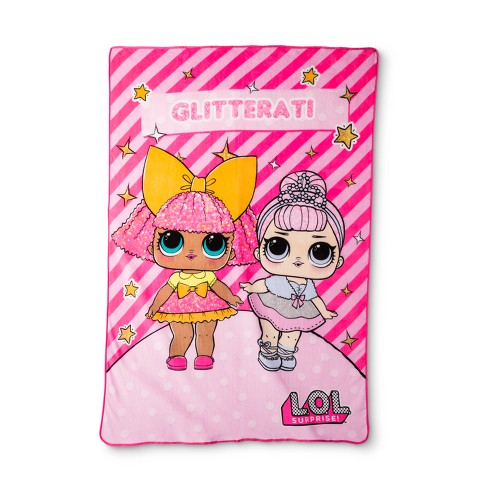 L.O.L. Surprise! Glitter Gals Bed Blanket (Twin) - image 1 of 1