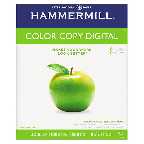 Hammermill® Copy Paper, 100 Brightness, 32lb, 8-1/2 x 11, Photo White, 500/Ream - image 1 of 1