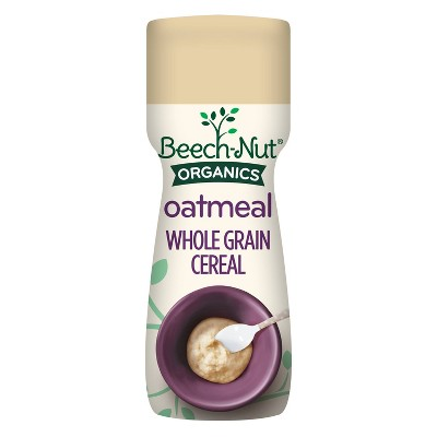 Beech-Nut Organic Oatmeal Baby Cereal Canister - 8oz
