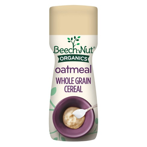 Beech-Nut Organic Oatmeal Baby Cereal Canister - 8oz - image 1 of 4