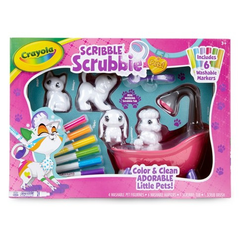 Crayola Scribble Scrubbie Pets! Tub Set with 6 Markers - image 1 of 4