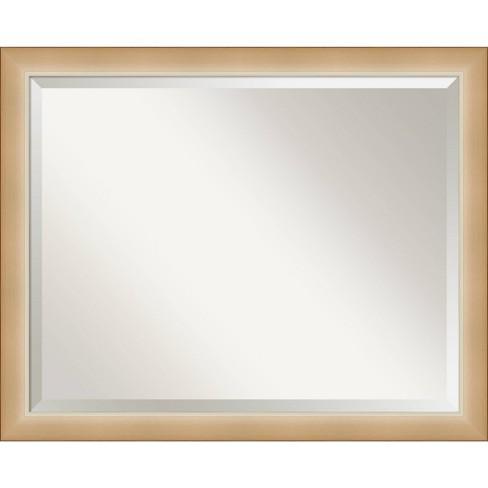 31 X 25 Eva Ambre Framed Bathroom Vanity Wall Mirror Gold Amanti Art Target