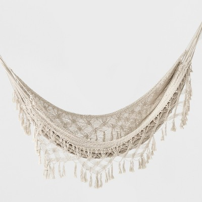 Macrame Hammock with Fringe - Natural - Opalhouse™