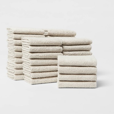 36pk Washcloth Bundle Sand - Room Essentials™