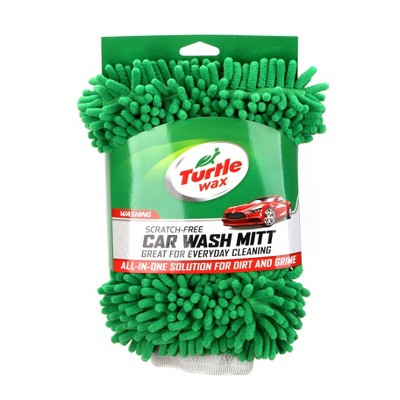 9 x12  Microfiber Chenille Wash Mitt Green - Turtle Wax