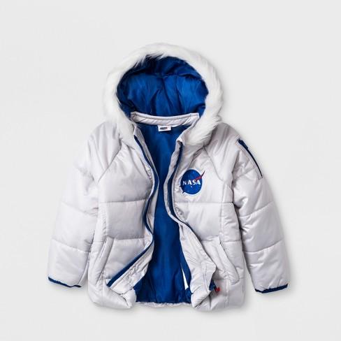 Toddler Girls' NASA Coat - Silver 5T - image 1 of 2