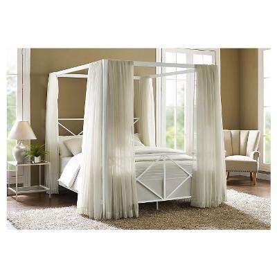 Queen Riley Canopy Bed White   Room U0026 Joy