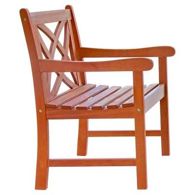 Vifah Eucalyptus Patio Arm Chair - Brown