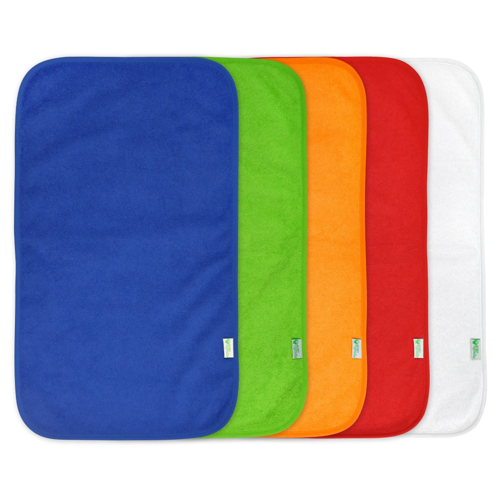 green sprouts Stay-Dry Burp Pads (5 pack) - Blue Set