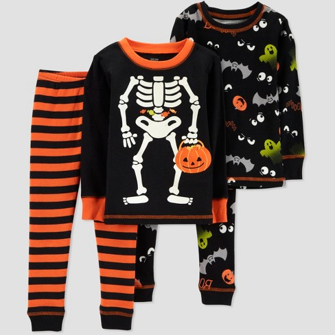 ddc4ea76b32c Toddler Boys  4pc Skeleton Pajama Set - Just One Yo   Target