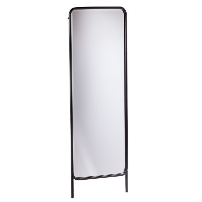 Holly & Martin 62 x20  Sowell Full Length Leaning Floor Mirror Black