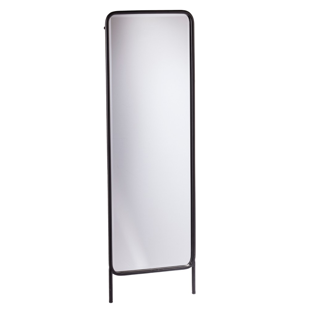 "Image of ""Holly & Martin 62""""x20"""" Sowell Full Length Leaning Floor Mirror Black"""