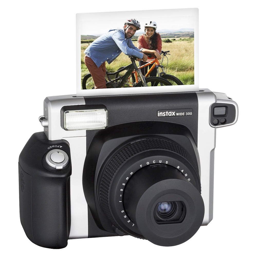 Fujifilm Instax Wide 300 Instant Camera - Black Take snapshots that you'll want to keep forever with the Instant Camera Fujifilm Black. The Fujifilm camera features a lens, flash and batteries to help capture your fun and clever photos. Fujifilm instant film sold separately.