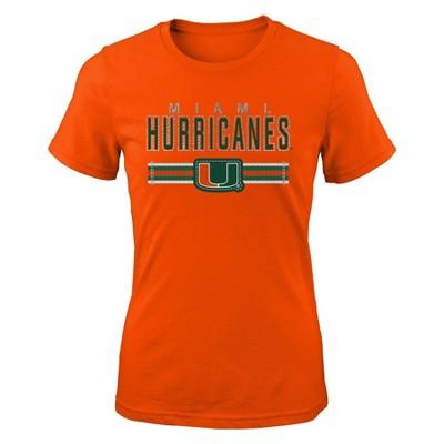 NCAA Miami Hurricanes Girls' Short Sleeve Crew Neck T-Shirt