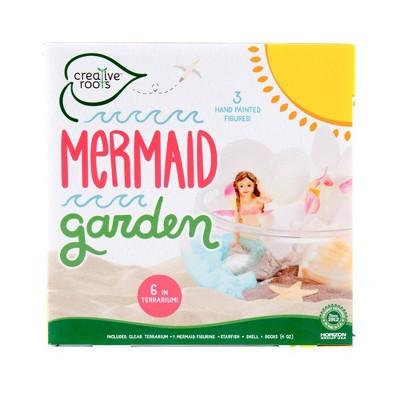 "Creative Roots Mermaid Garden with 6"" Terrarium"