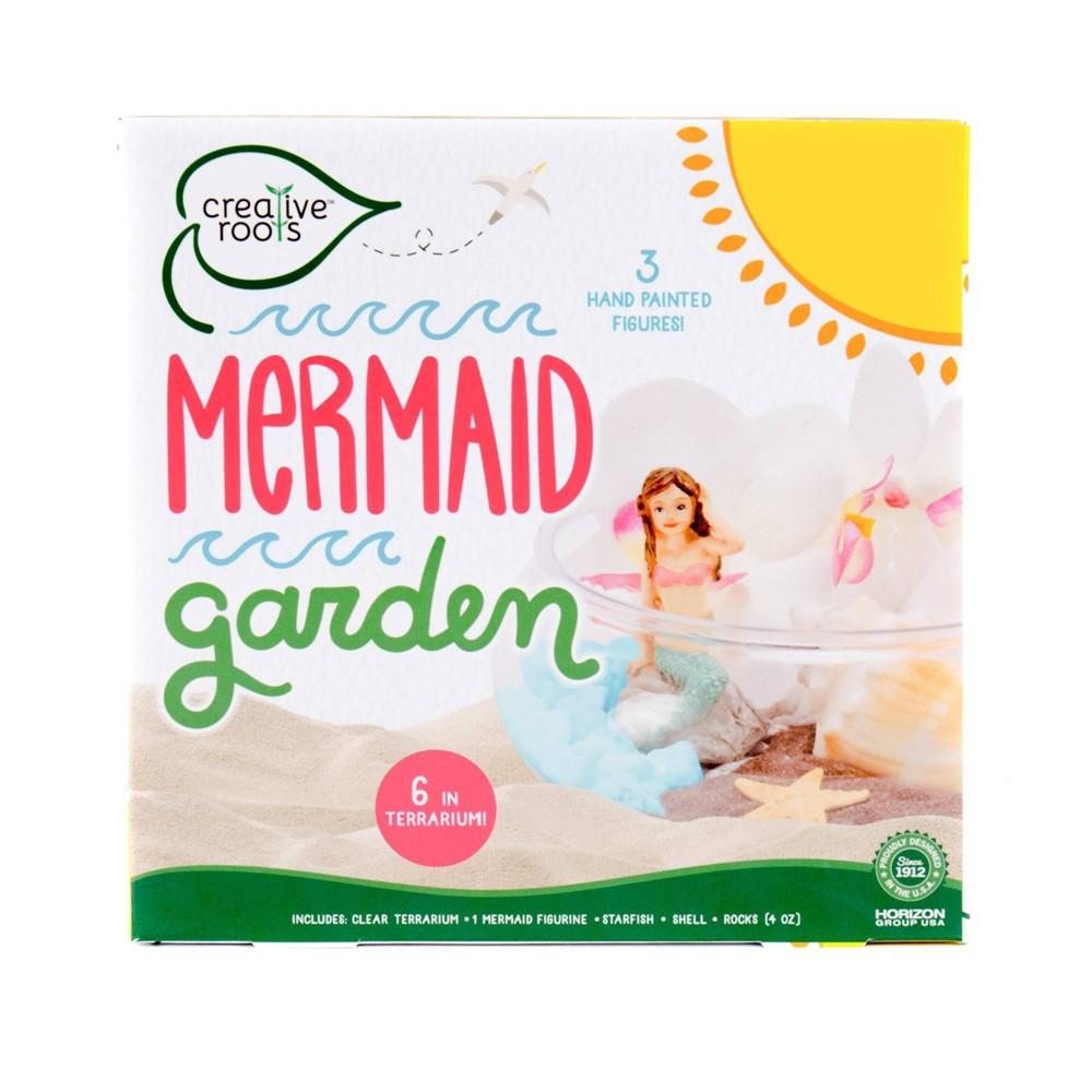 "Image of ""Creative Roots Mermaid Garden with 6"""" Terrarium"""