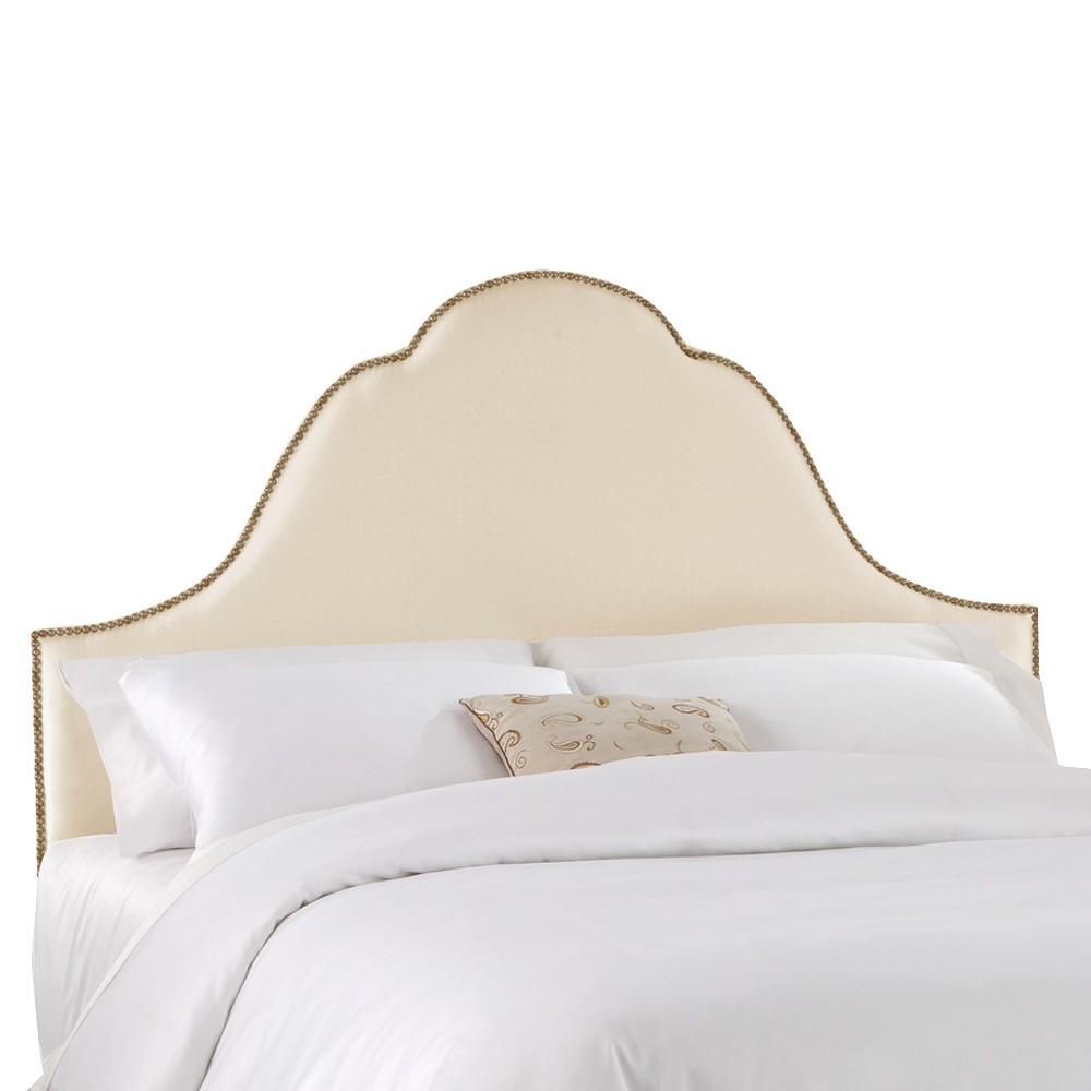 Valencia Nailbutton Headboard - Parchment - Full/Queen - Skyline Furniture