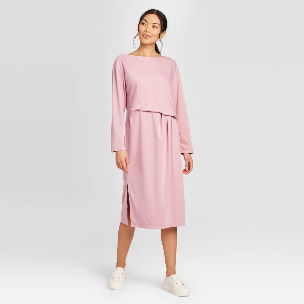 Women's Long Sleeve Crewneck Midi Dress - Prologue Mauve XXL, Women's, Purple was $29.99 now $20.99 (30.0% off)