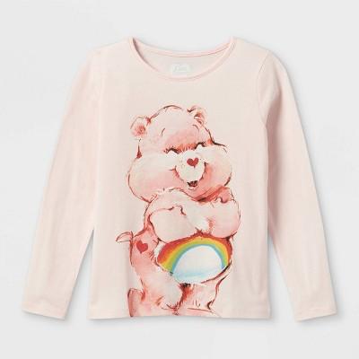 Girls' Care Bears Long Sleeve Graphic T-Shirt - Pink