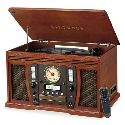 Victrola Aviator 8-in-1 Bluetooth Turntable & Multimedia Center with Built-in Stereo Speakers