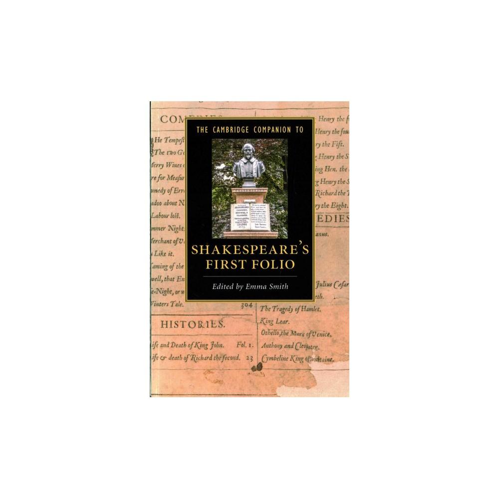 Cambridge Companion to Shakespeare's First Folio (Paperback)