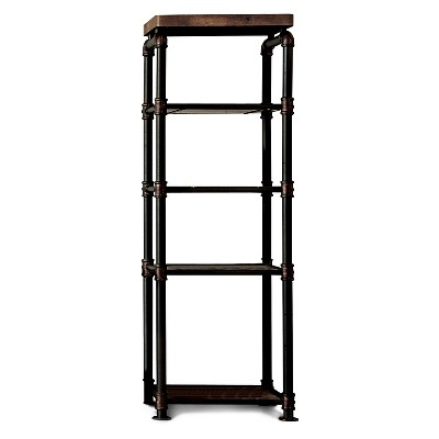 Stonehedge Industrial Pipe Inspired Pier Cabinet Black/Natural - HOMES: Inside + Out