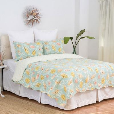 C&F Home St. Martin Blue Cotton Quilt Set
