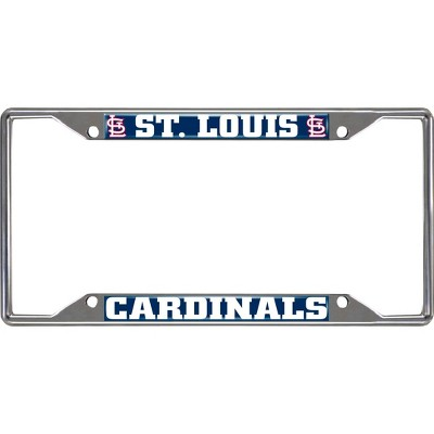 MLB St. Louis Cardinals Stainless Steel License Plate Frame