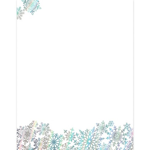 40pk foil snowflake stationery kits great papers target