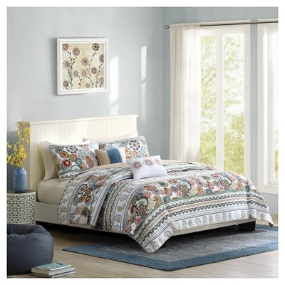 Dana Medallion Quilted Multiple Piece Coverlet Set