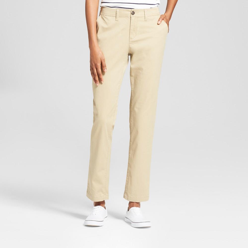 Women's Slim Chino Pants - A New Day Tan 16