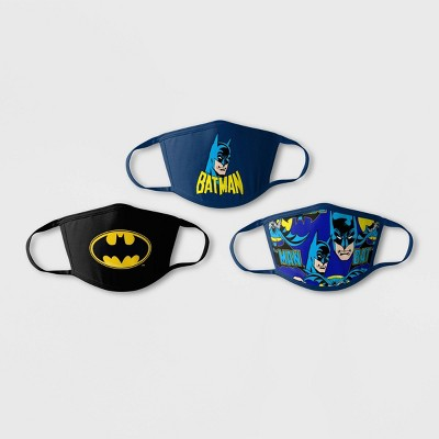 Kids' 3pk Batman Face Mask