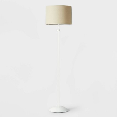 Modern Floor Lamp with Shade White/Natural - Pillowfort™