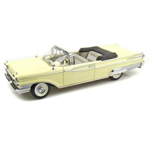 1959 Mercury Parklane Convertible Yellow Platinum Edition 1/18 Diecast Model Car by Sunstar - image 1 of 1